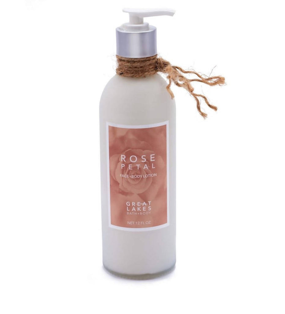 Rose Petal Face and Body Lotion - 12 fl oz.