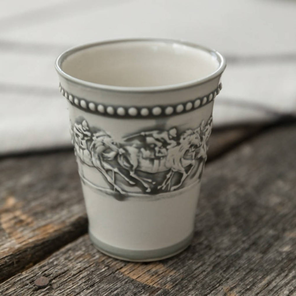 Load image into Gallery viewer, Embossed Running Horse Julep Cup - 11oz
