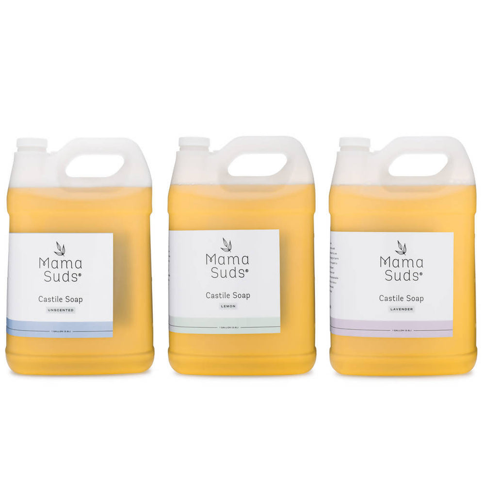 Load image into Gallery viewer, All-Purpose Castile Soap - Unscented, Lemon, Lavender