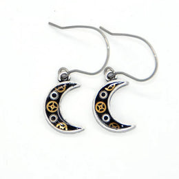 Small Moon Watch Part Earrings