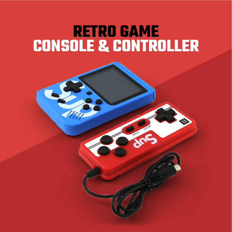 RETRO SUPER GAME CONSOLE & CONTROLLER