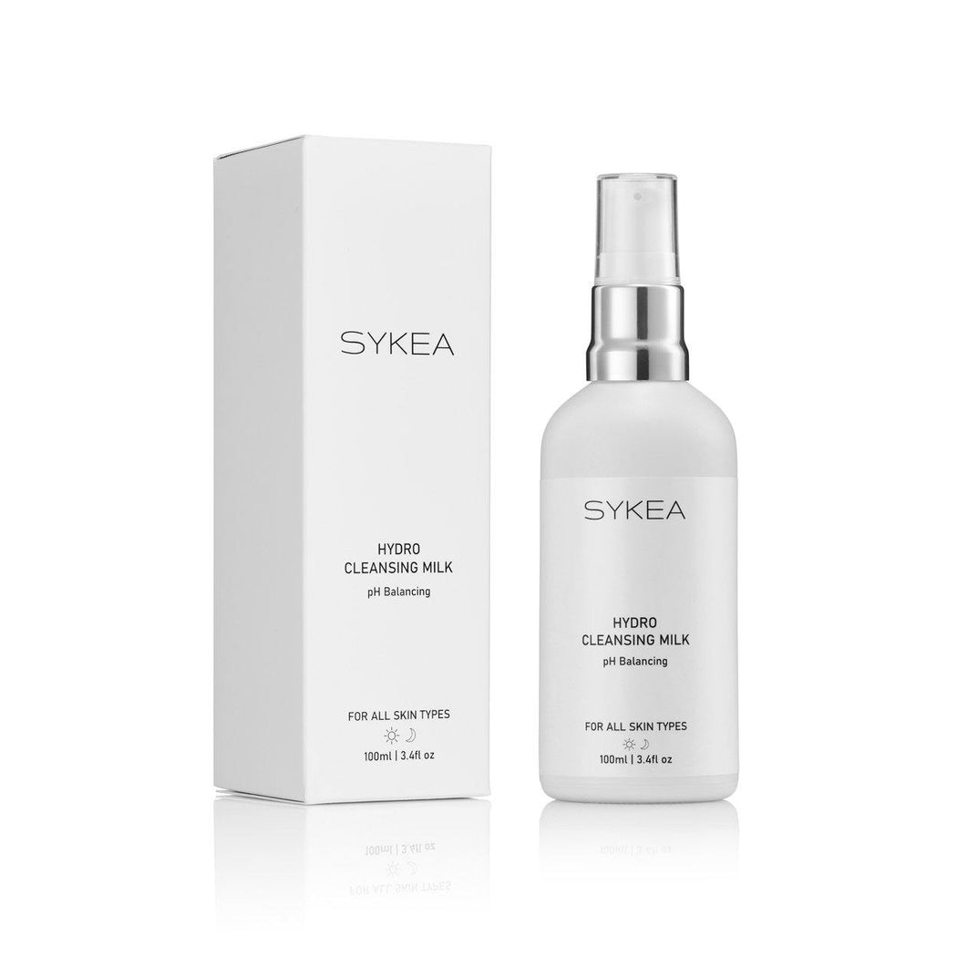 Sykea Hydro Cleansing Milk facial cleanser bottle and box