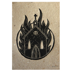 BURN - Mini Linoprint