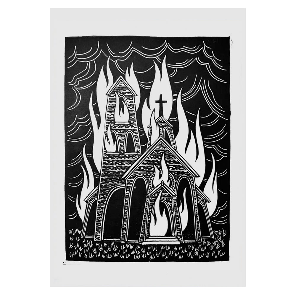 BURNING CHURCH Vol. II - Linoprint