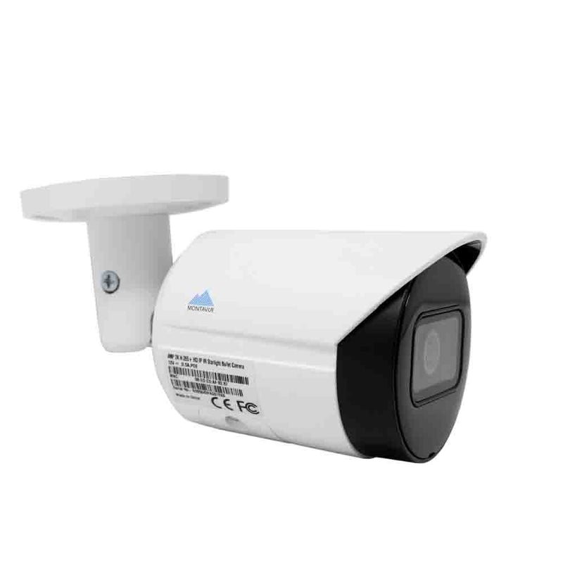 Montavue-8 channel 2K resolution (4 megapixel) IP camera system with 2 4mp bullet cameras