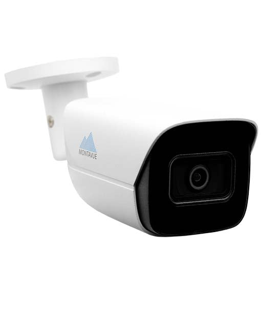 Montavue AI Smart Motion Detect Surveillance System w/ 16 2K 5 Megapixel IP AI-SMD Bullet Cameras with Built-in Mic