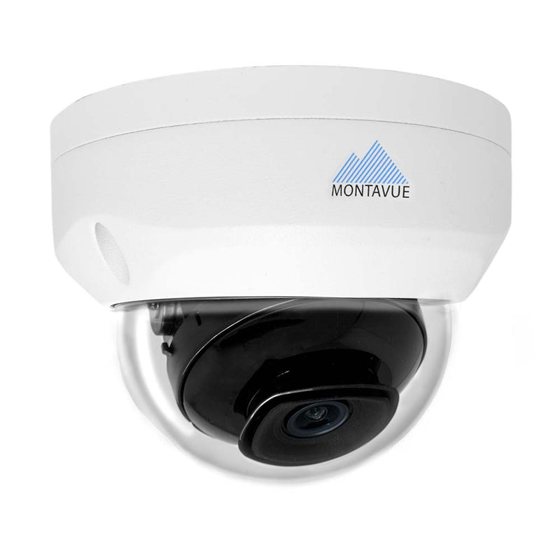 Montavue 16 Channel IP Security System w/ 12 4MP IP Vandal Dome Cameras, 3TB HDD, 102° Field of View and Starlight Night Vision