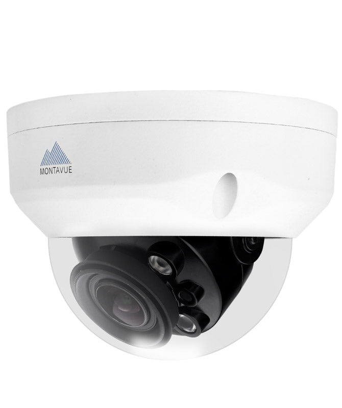 Montavue 16 Channel Security System w/ 6 4K Motorized Bullet Cameras and 6 4K Motorized Vandal Dome Cameras
