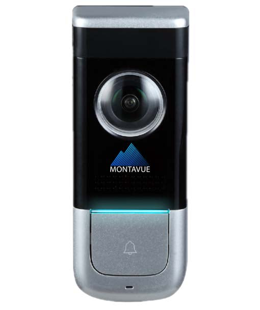 Montavue MTDB2140 Wi-Fi Doorbell Camera with 1080P HD Resolution, 64GB SD Card, Night Vision, 2-Way Audio and PIR Motion Detection