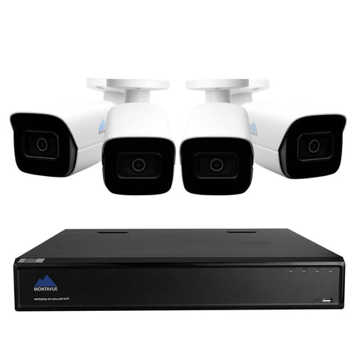 Montavue 8-Channel NVR System with Four 4K Cameras