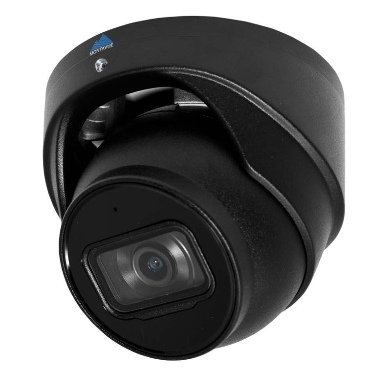 Montavue 8MP Smart Motion AI Turret Camera -  Starlight Night Vision, Smart Motion Detect, Built-in Mic- Montavue MTT8108-AISMD-B