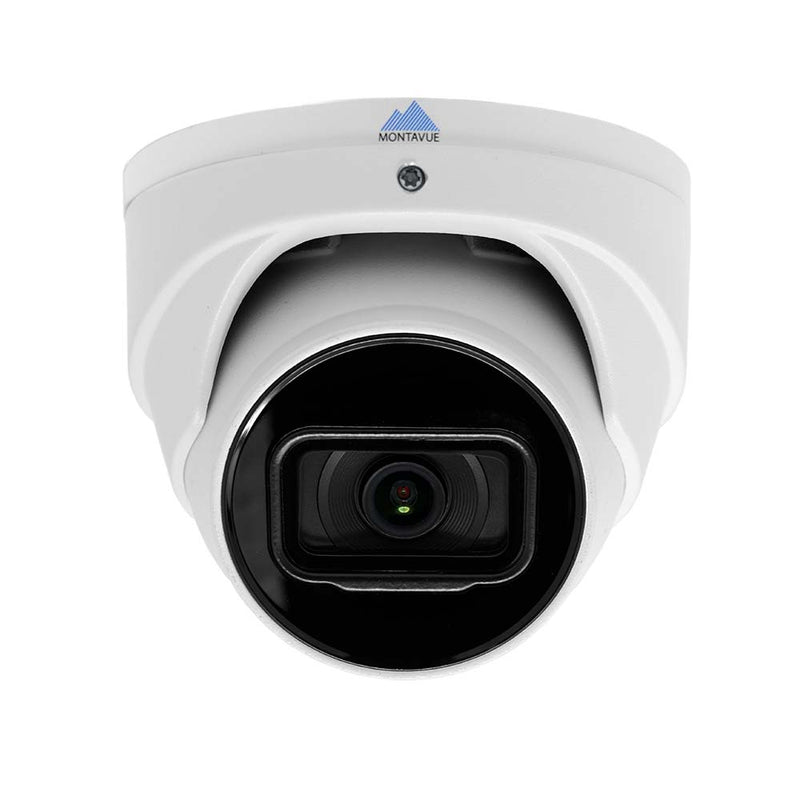 Montavue AI Smart Motion Detect Surveillance System w/ 24 2K 5 Megapixel IP AI-SMD Cameras with Built-in Mic, 6TB HDD