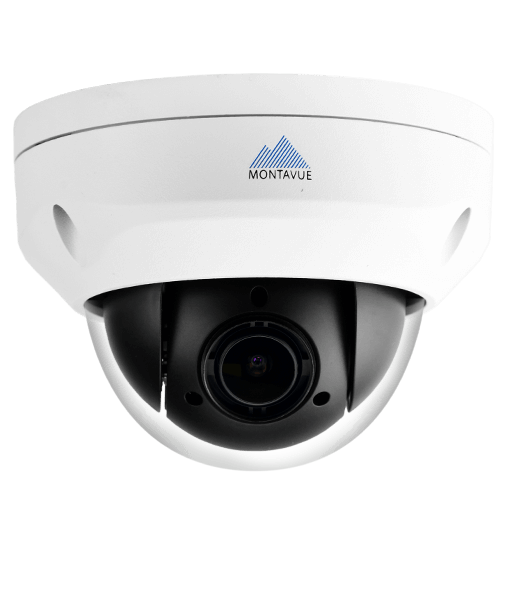 Montavue MTZ4040 4MP Pan-Tilt-Zoom (PTZ) Speed Dome Camera with 2K HD Resolution, 4x Zoom, and Low Light Color Optics