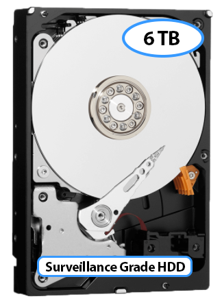 6TB  Surveillance Grade Hard Drive for your Surveillance System