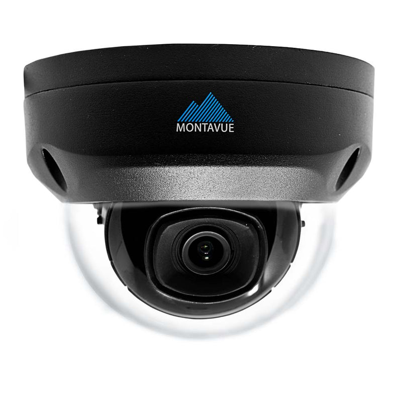 Montavue MTD4102 Black 2K 4MP Indoor/Outdoor HD IP Vandal Dome Camera with Color Night Optics Night Vision