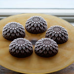 Load image into Gallery viewer, Sorbet flowers: chocolate sorbet chrysanthemum on a tray