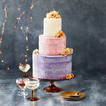 Load image into Gallery viewer, Ice cream wedding cake with golden roses
