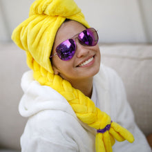 Load image into Gallery viewer, Golden Blonde Braided Hair Towel
