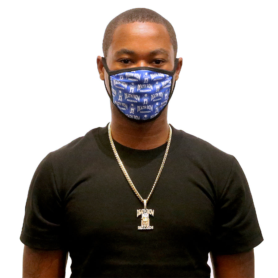 Black Death Row Records Monogram Logo Washable Face Mask