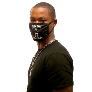 Black Death Row Records Logo Washable Face Mask