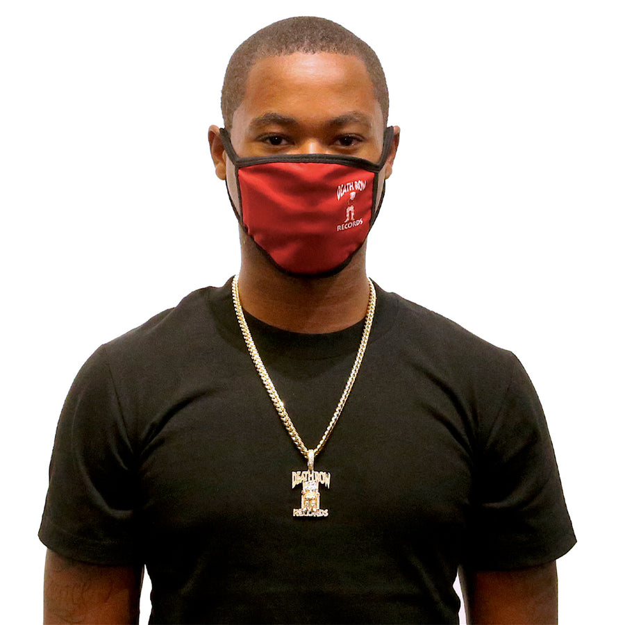 Blood Red Death Row Records Fashion Face Masks