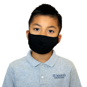 Kids Plain Black Fashion Face Mask
