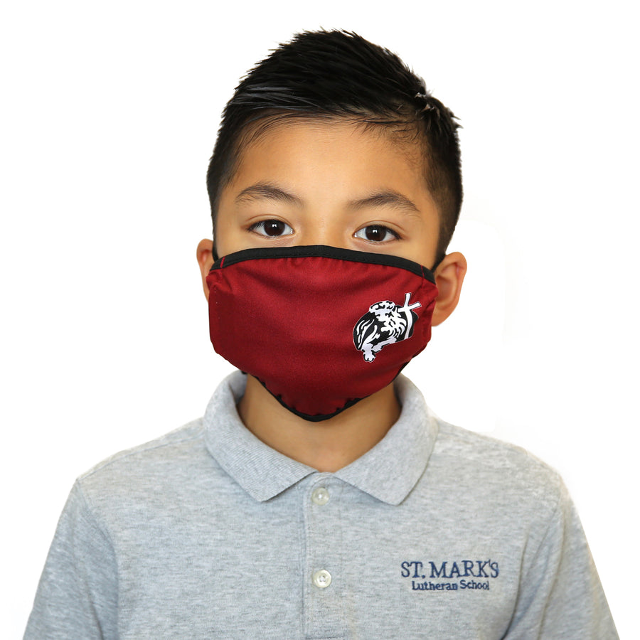 Young Adult Red St. Mark's School Fashion Face Mask