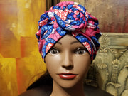 Pre Knotted Turban for Woman Adult Head Wrap Pre tied twist knot Cap Hat.