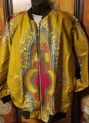"Handmade African Print Ankara fabric Bomber Jacket Coat with Pockets our ""The Cameron"""