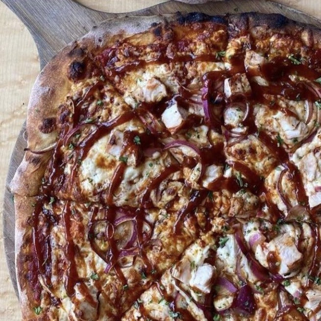 WOODFIRED BBQ CHICKEN PIZZA