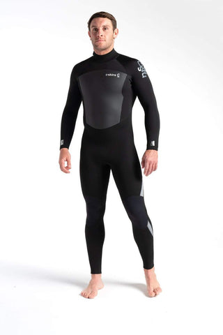 C Skins Legend 3/2 Back Zip Wetsuit Black - Second Skin Surfshop