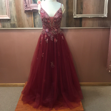 Load image into Gallery viewer, JOVANI-BURGUNDY