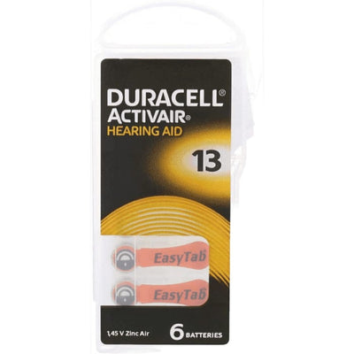 Duracell Activair Hearing Aid | Size 13 - Pack of 6 Batteries