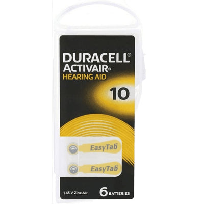 Duracell ActivaiHearing Aid | Size 10 - Pack of 6 Batteries