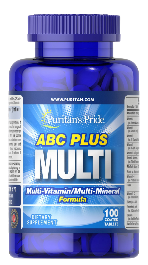100 Caplets Multivitamin and Multi-Mineral Formula