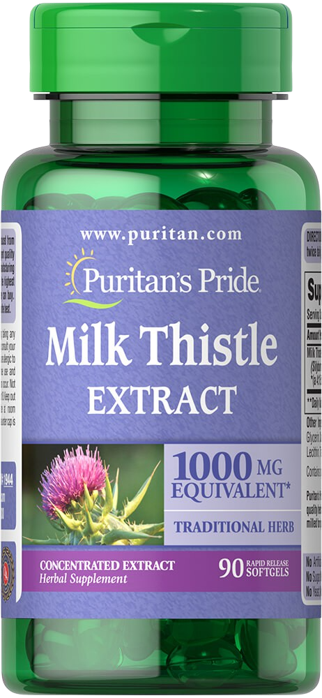 90 Soft gels Milk Thistle Silymarin 4:1 Extract 1000mg