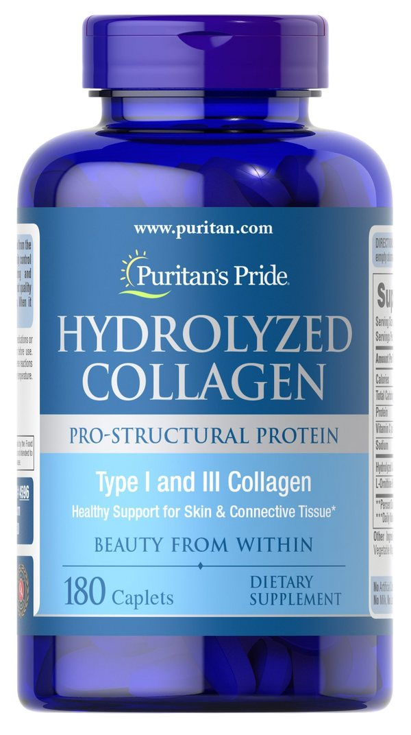 180 Caplets Collagen Hydrolyzed 1000mg