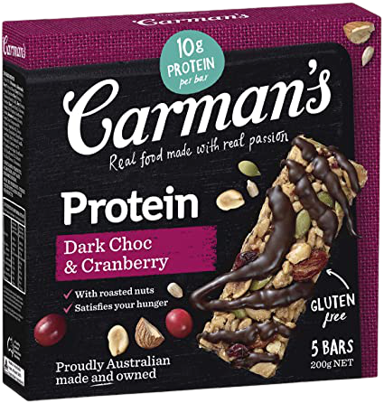 Protein Bars Dark Choc & Cranberry (6 Bars)