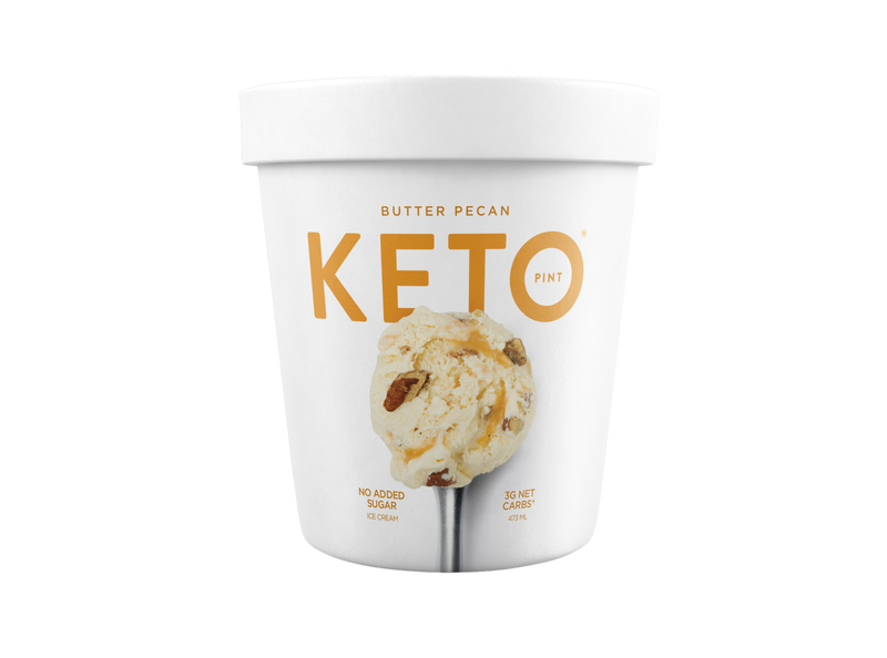 Ice Cream Keto Butter Pecan 473ml