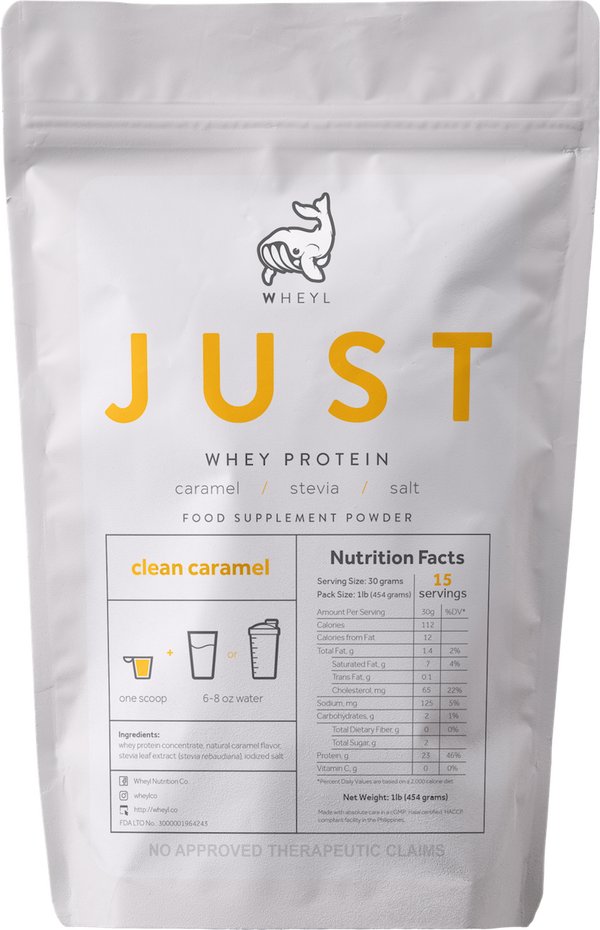 JUST Clean Caramel Whey Protein 1lb