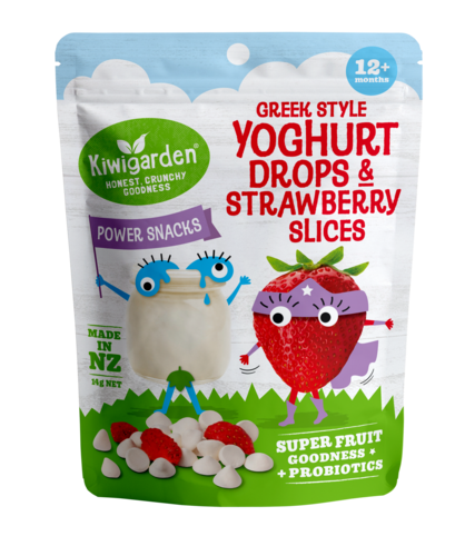 Greek Style Yoghurt Drops & Strawberry Slices