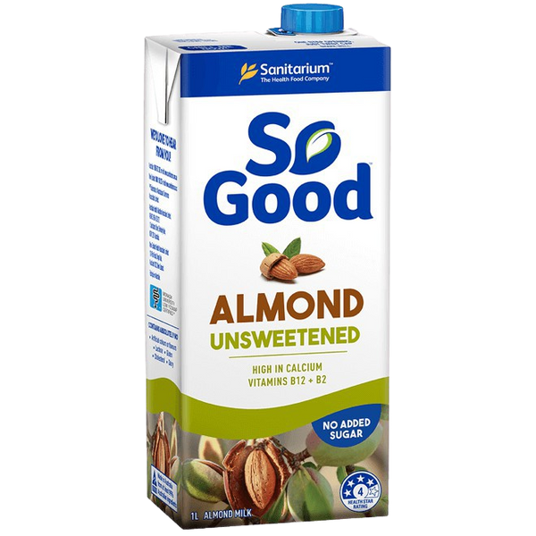 Milk Almond So Good Unsweetened 1L