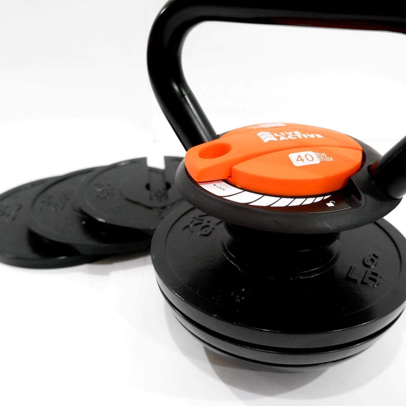LA 40lbs Adjustable Kettlebell