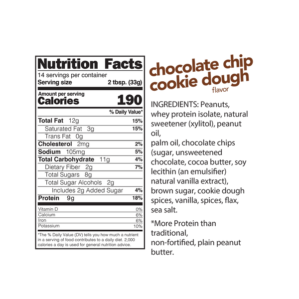 Spread Chocolate Chip Cookie Dough High Protein 454g