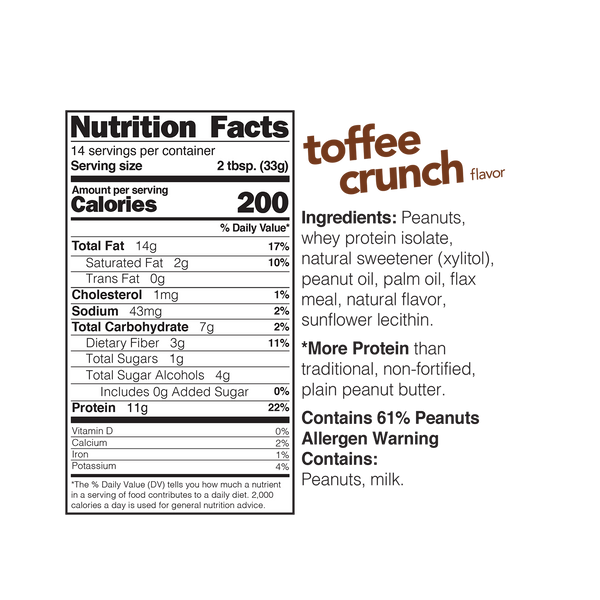 Spread Toffee Crunch High Protein 454g