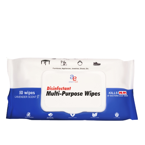 Disinfectant Multi Purpose Wipes 50 pulls (Pouch)