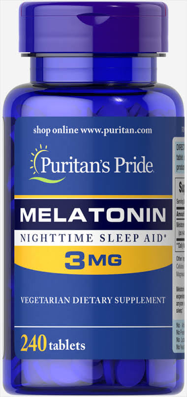 240 Tablets Melatonin 3mg