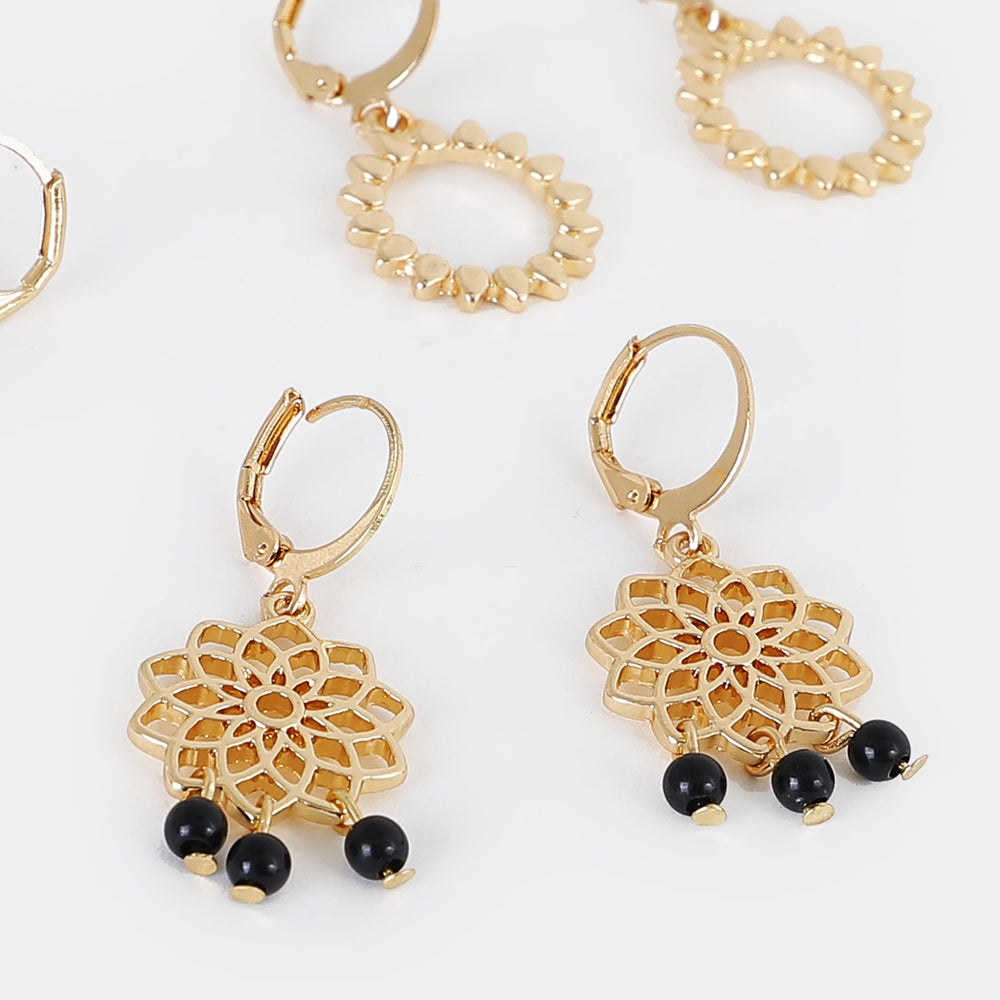 Aretes Argollas Set