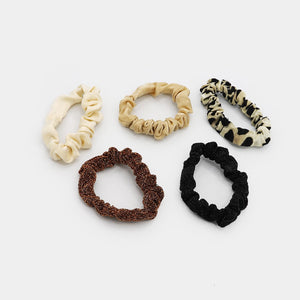 Set De Scrunchies Con Estampa