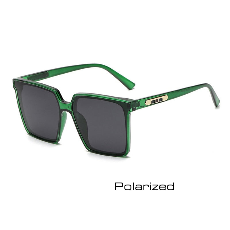 SHAUNA Retro Polarized Oversize Square Sunglasses